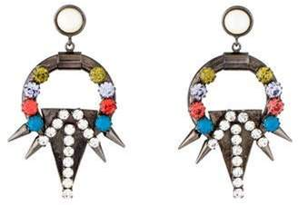 Fallon Faux Pearl & Multicolor Crystal Spike Drop Earrings multicolor Faux Pearl & Multicolor Crystal Spike Drop Earrings