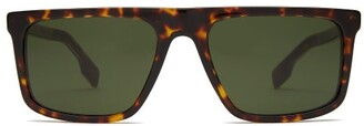 Burberry Penford Tortoiseshell Acetate Sunglasses - Mens - Brown