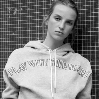 Sandro Hooded sweatshirt with embroidery