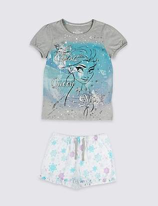 Marks and Spencer Disney FrozenTM Pure Cotton Short Pyjamas (2-10 Years)