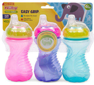 3pk Easy Soft Spout Sippy Cup Set
