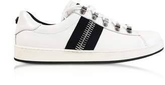 Balmain Eric White Leather Low-Top Sneakers