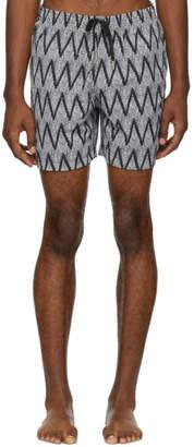 Bather Black Zig Swim Shorts
