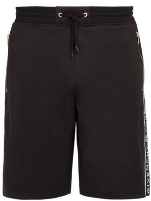Givenchy Logo Taped Technical Jersey Shorts - Mens - Black