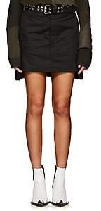Helmut Lang Women's Denim High-Rise Military Skirt-Black