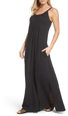 Caslon R R) Twist Neck Maxi Dress (Regular, Petite & Plus Size)