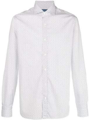 Barba micro floral print shirt