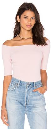 Autumn Cashmere Off Shoulder Crop Top $165 thestylecure.com