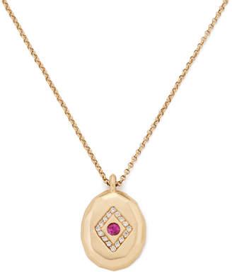 Michelle Fantaci Beveled Mirror Necklace