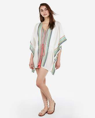 Express Aztec Stripe Swim Cover-Up