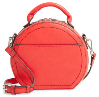 Sole Society Glyso Round Faux Leather Crossbody Bag