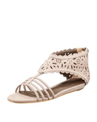 Pour la Victoire Cutout Lattice Flat Sandal
