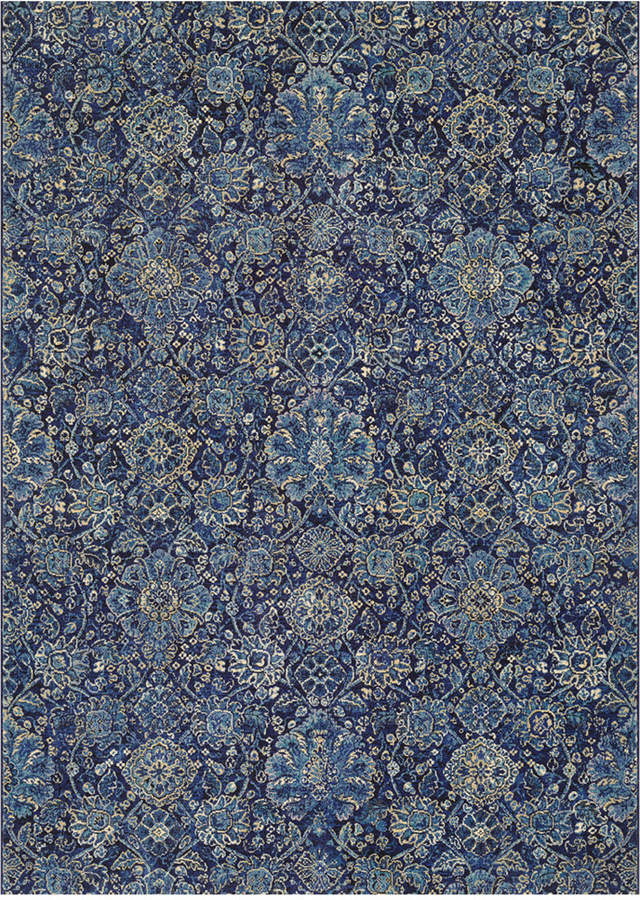 "Couristan Couristan Taylor Winslet Navy-Sapphire 7'10"" x 11'2"" Area Rug"
