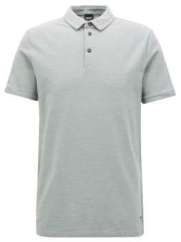 BOSS Hugo Cotton Pique Polo Shirt, Slim Fit Proses L Light Green