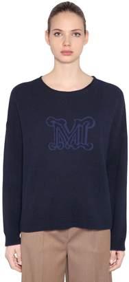 Max Mara Logo Intarsia Cashmere Knit Sweater