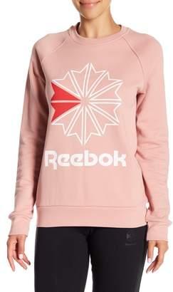 Reebok Front Logo Starcrest Crew Neck Pullover