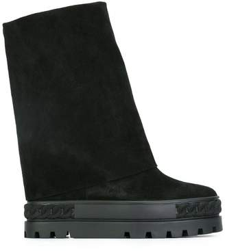 Casadei concealed wedge booties