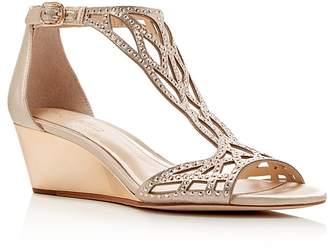 Vince Camuto Imagine Jalen Metallic Rhinestone Cutout Wedge Sandals