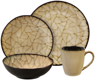 Asstd National Brand Gibson Elite Zambezi 16-pc. Reactive Glaze Crackle Dinnerware Set