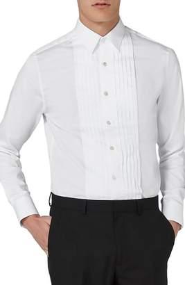 Topman Pleated Tuxedo Shirt
