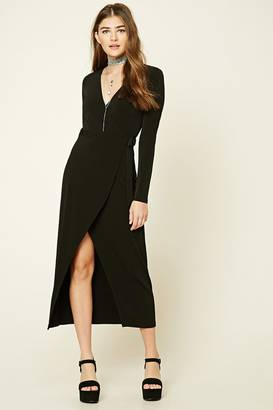 FOREVER 21+ Wrap Front Maxi Dress $15.90 thestylecure.com