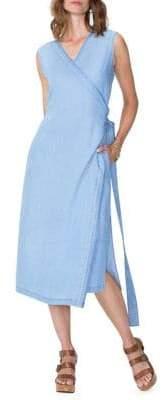NYDJ Released Hem Chambray Wrap Dress