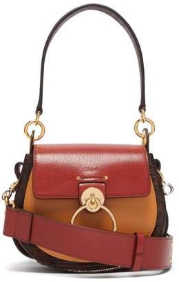 Chloé Tess Small Lizard Effect Leather Cross Body Bag - Womens - Dark Brown