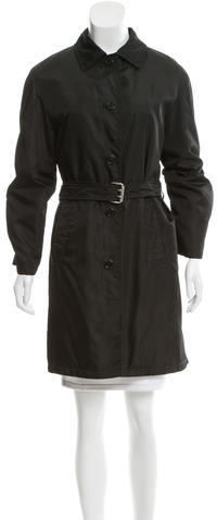 prada Prada Lightweight Button-Up Coat