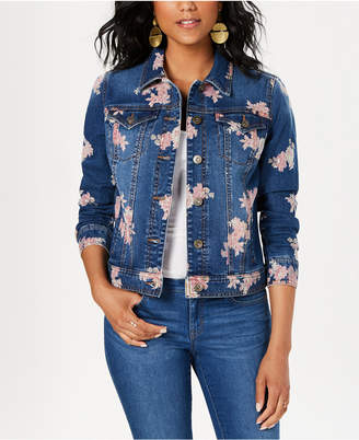 Style&Co. Style & Co Floral Jean Jacket