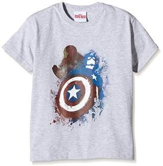 Marvel Boy's Captain America Civil War Painted Vs T-Shirt,Small (Manufacturer Size:)