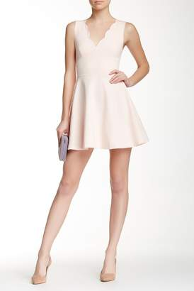 Love...Ady Scalloped V-Neck Mini Fit & Flare Dress $118 thestylecure.com