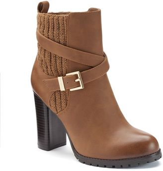 Juicy Couture Women's Sweater-Cuff Ankle Boots $89.99 thestylecure.com