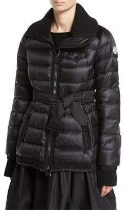 Moncler Karen Quilted Puffer Coat, Black