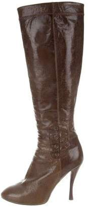 Tabitha Simmons Leather Knee-High Boots