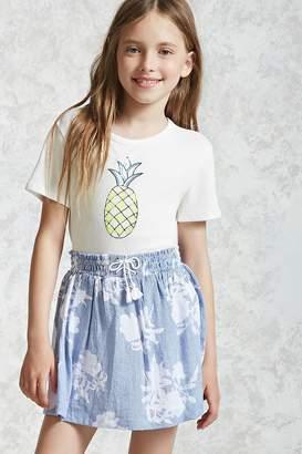Forever 21 Girls Pinstripe Skirt (Kids)