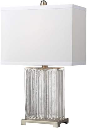 clear Dimond LED Ribbed Glass Table Lamp