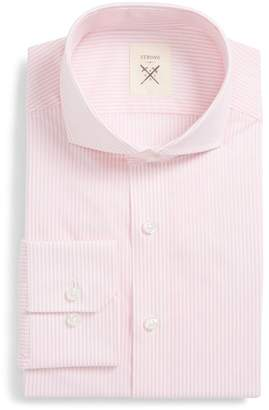 Strong Suit Stripe Cottom Trim Fit Shirt