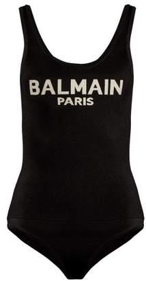 Balmain Logo-knit bodysuit