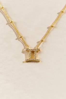 francesca's CZ Zodiac Gemini Pendant Necklace - Gold