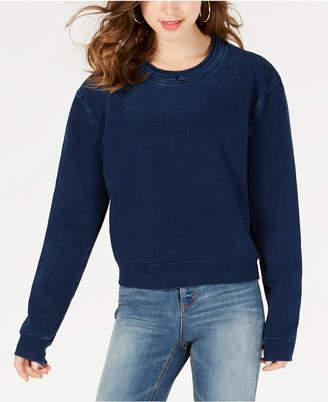 Material Girl Juniors' Denim Sweatshirt