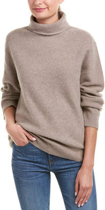 Vince Draped Turtleneck Cashmere Sweater