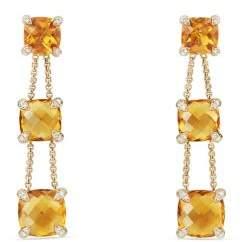 David Yurman Chatelaine® Linear Chain Earrings With Citrine And