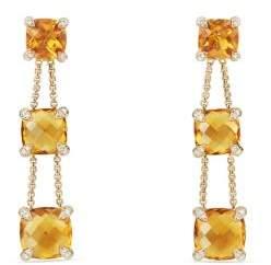 David Yurman Chatelaine® Linear Chain Earrings With Citrine And