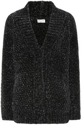 Saint Laurent Lurex knit cardigan