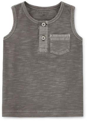 Okie Dokie Boys Henley Neck Sleeveless Muscle T-Shirt - Baby