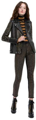 Alice + Olivia Ollie Colorblock Leather Jacket
