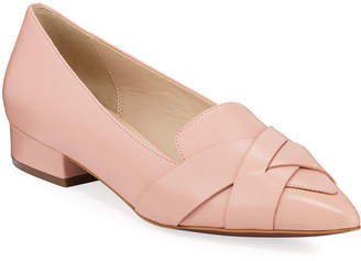 Cole Haan Camila Leather Skimmer Flats Mahogany Rose