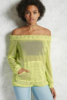 Forever 21 Off-the-Shoulder Mesh Top