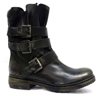 "Manas Design 1912"" Black Leather Calf-High Boot"