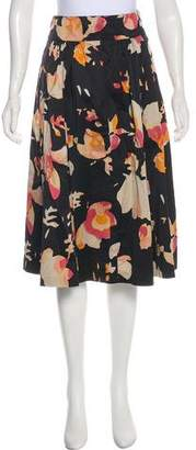 Dries Van Noten Pleated Floral Skirt